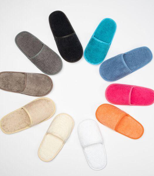 Waterdichte slippers in badstof