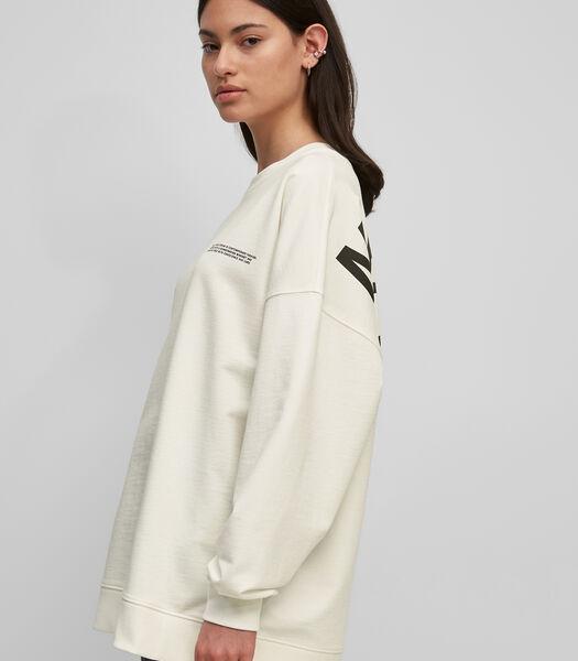 Oversized sweatshirt van organic cotton