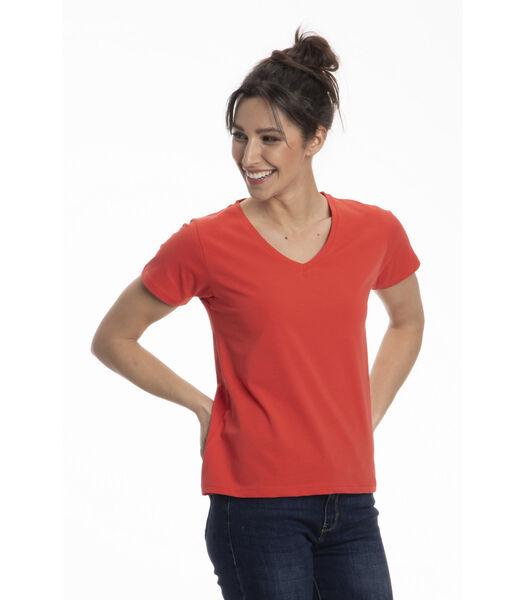 TINA-T-shirt v-hals comfort