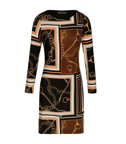 Grafische print jurk EMILE