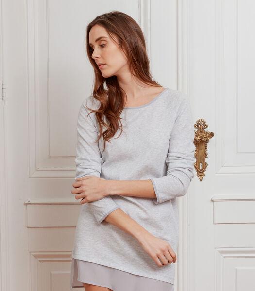 Tuniekje in jersey van katoen en zijde, MARIANNE