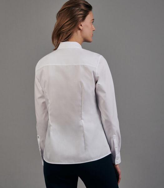 Shirtblouse Uni Lange mouwen Kraag