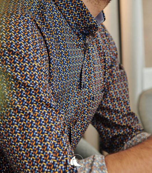 Hemd met fris abstract motief
