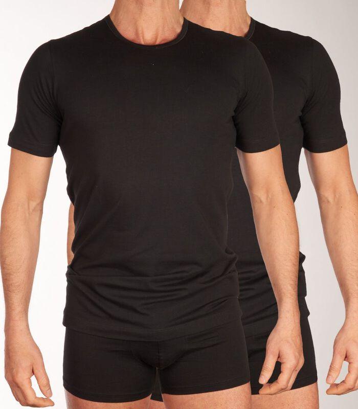T-shirt ronde hals 2 pack shirt 95/5 h-l image number 0