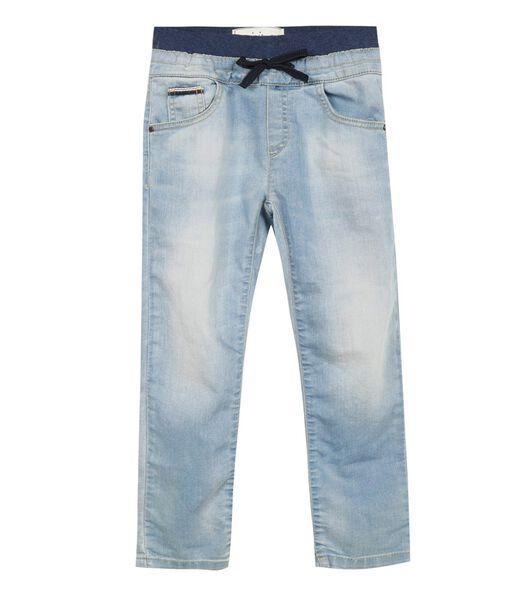 Jeans met elastische broekriem