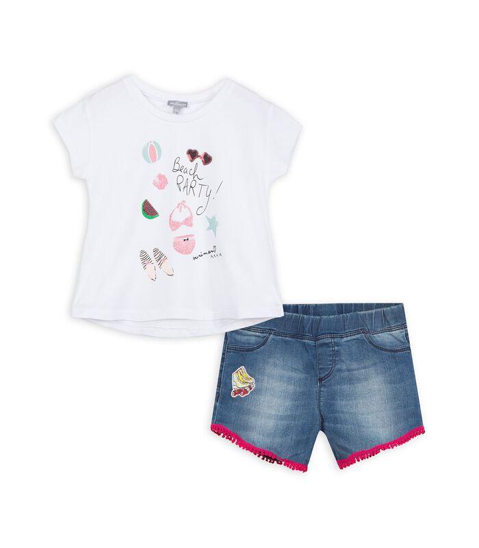 Set met t-shirt en shorts image number 0