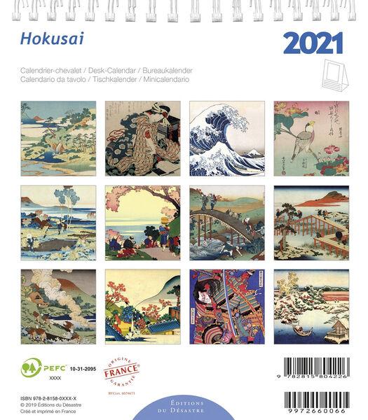 Kalender 14x16 cm Hokusai,
