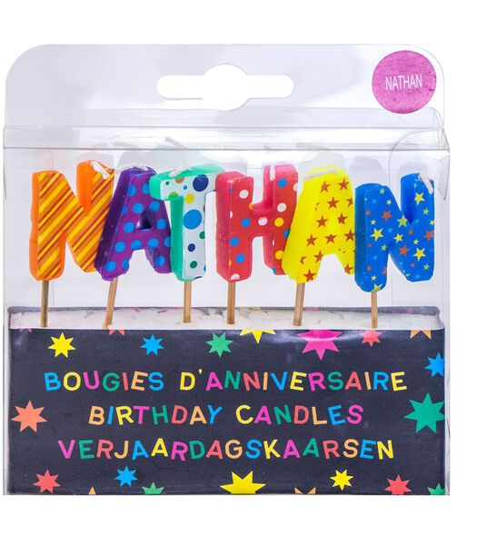 Bougies d'anniversaire prénom Nathan