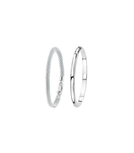 Ensemble en argent avec deux bracelets