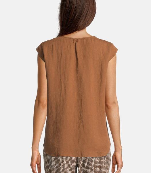 Haut façon blouse en dentelle