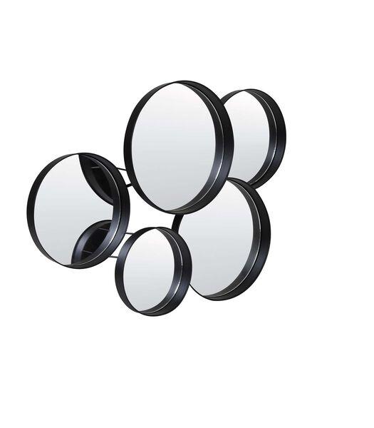 Miroir 76x11x60 cm SIANNA noir mat