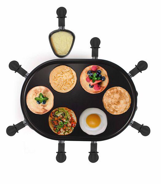 Toestel voor raclette en minipannekoeken