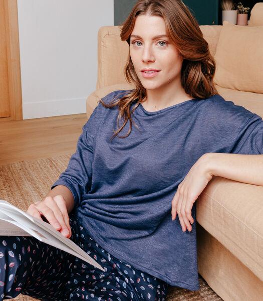 Frans linnen gebreid T-shirt, TARA