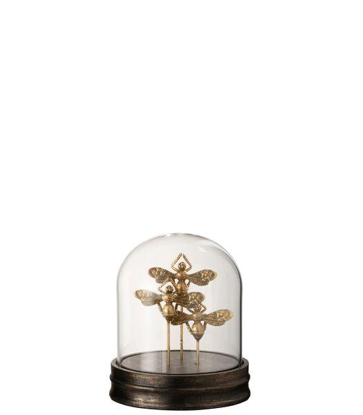Stolp Vlinder Poly/Glas Goud