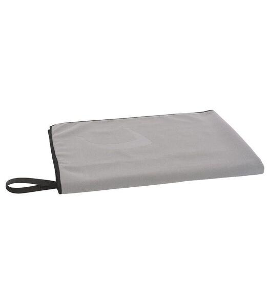 Set de serviettes 2 pièces microfibre gris