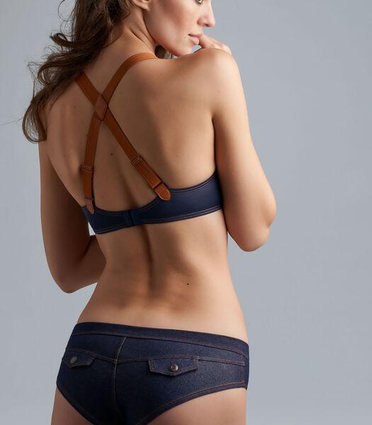 calamity jane blue jeans push up bra