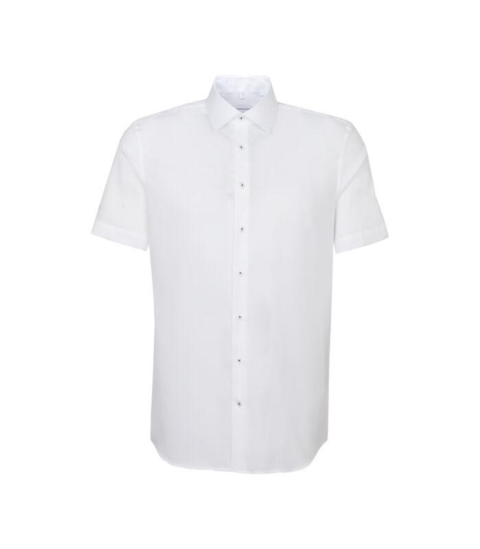 Overhemd Slim Fit Korte mouwen Uni image number 0