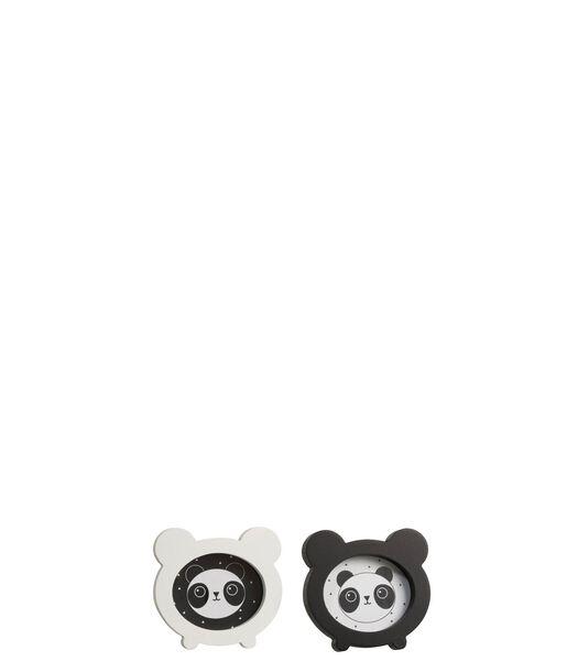 Cadre Photo Panda Bois Blanc/Noir Assortiment De 2