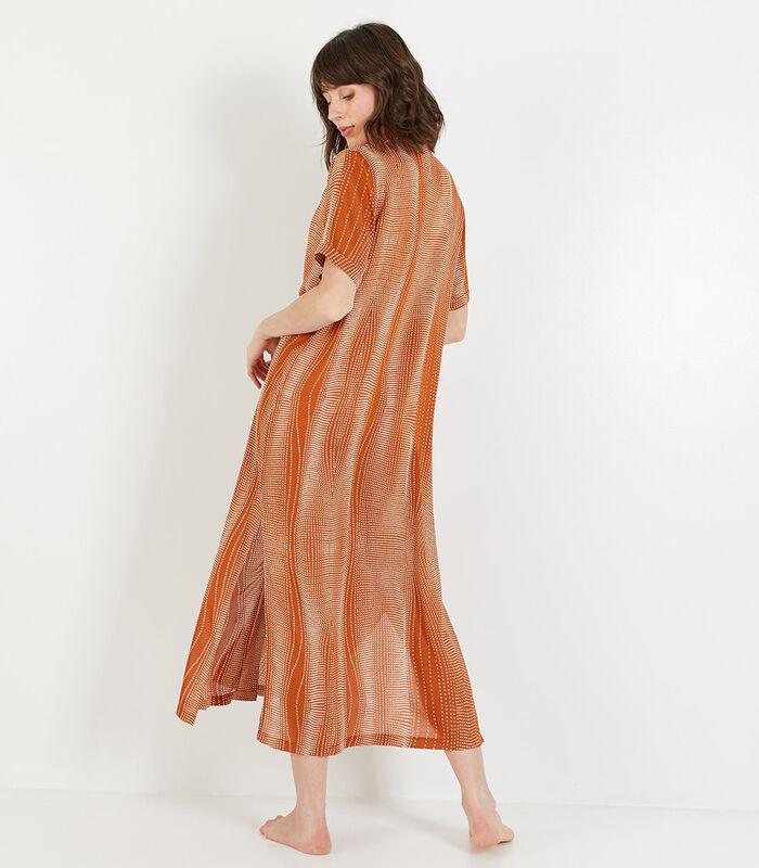 Bambou - Homewear lange Jurk viscose image number 2