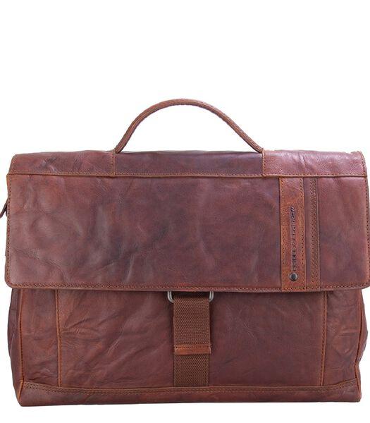 Spikes & Sparrow Bronco Briefcase brandy