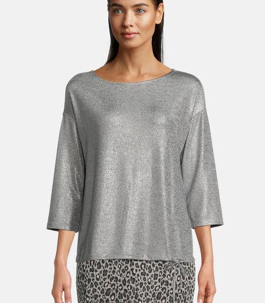 Sweatshirt in glitterlook