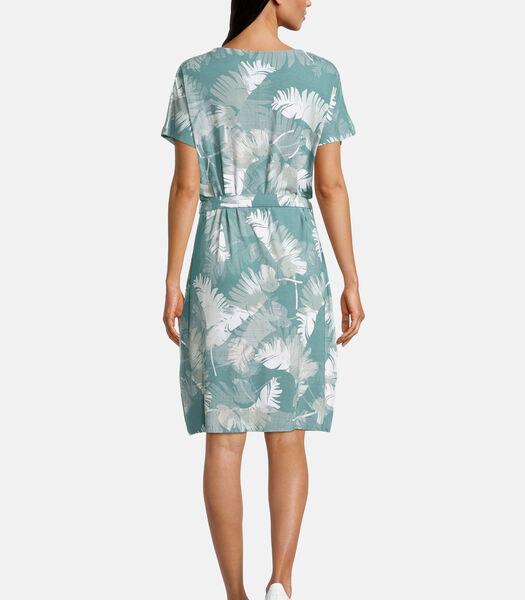 Jersey jurk met V-hals