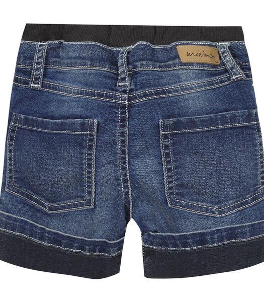 Slip-on jeans bermuda