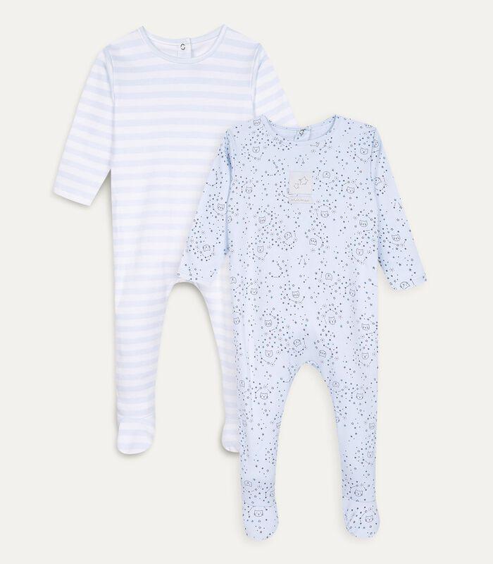 Set met 2 pyjama's met voetjes image number 0
