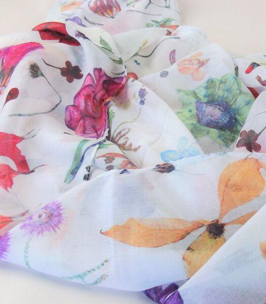 Foulard d'été fleurs