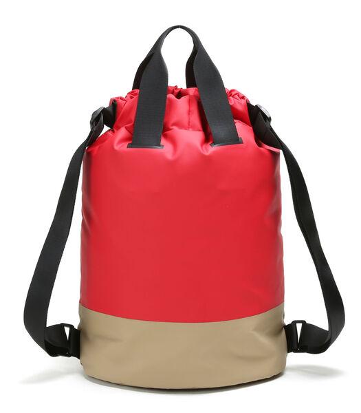 Sac à dos avec cordon 23L (Rouge)