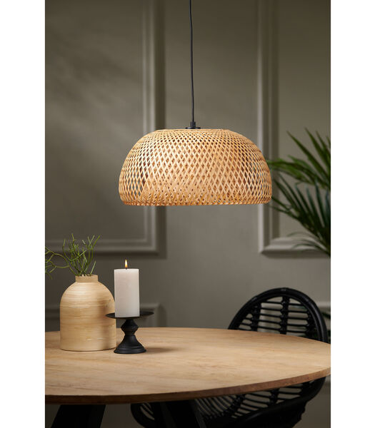 Lampe pendante Timeo - Bambou Naturel - Ø44x24 cm
