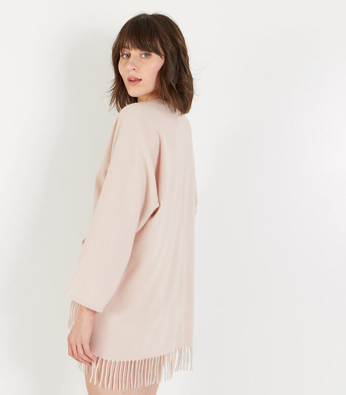 Homewear korte poncho wol image number 3