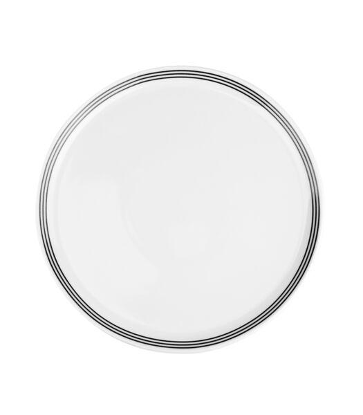 Assiette plate 26cm noir Stripes - set/6