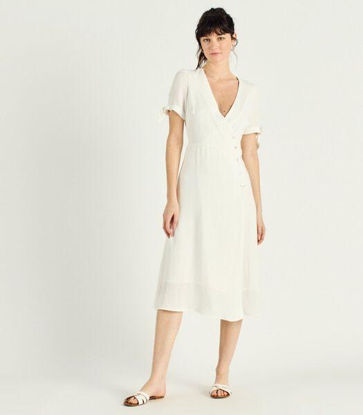 CARLA V-hals en gekruiste jurk
