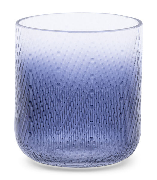 Zigzag Votive blue