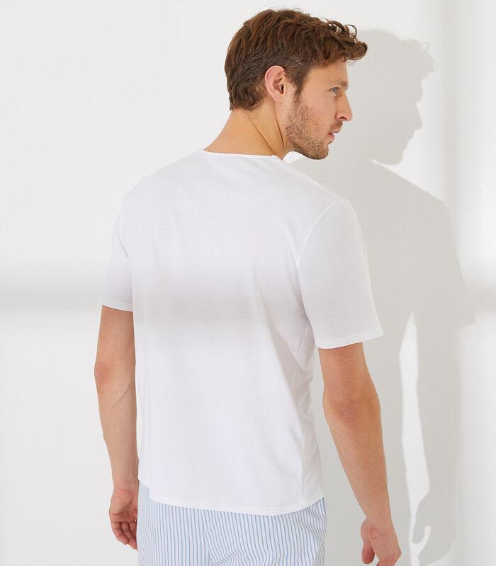 Essentiel - Homewear T-shirt met korte mouwen katoen image number 4