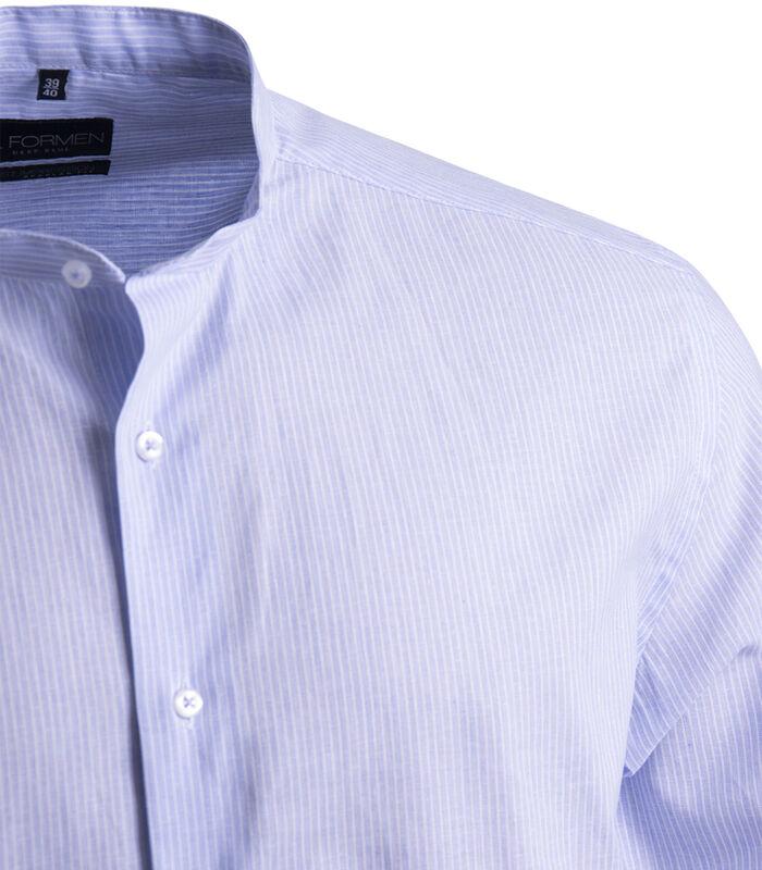 Linnen hemd met Mao kraag image number 2
