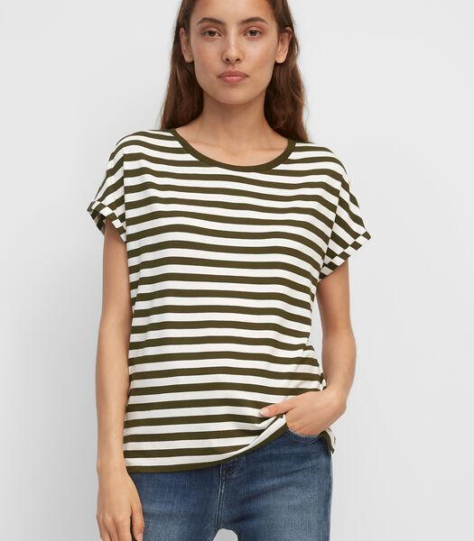T-shirt van elastische viscose-jersey