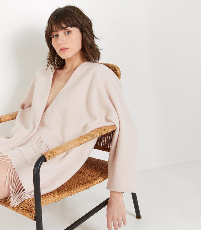 Homewear korte poncho wol image number 0