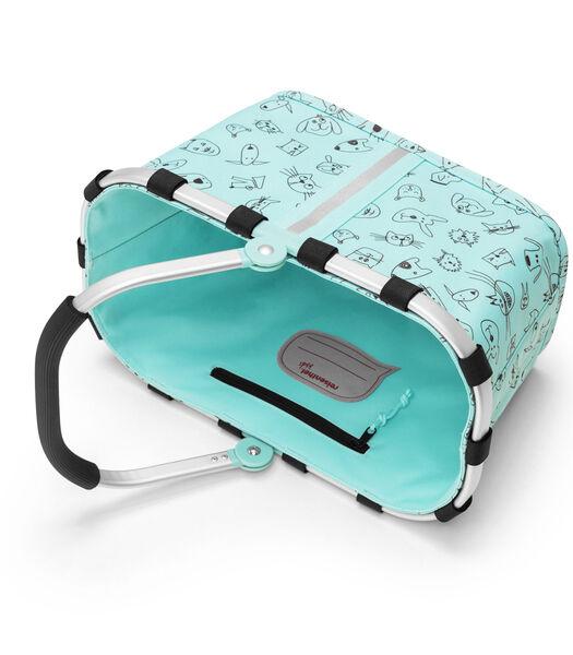 Carrybag XS Kids - Boodschappenmand - Cats&Dogs Mint