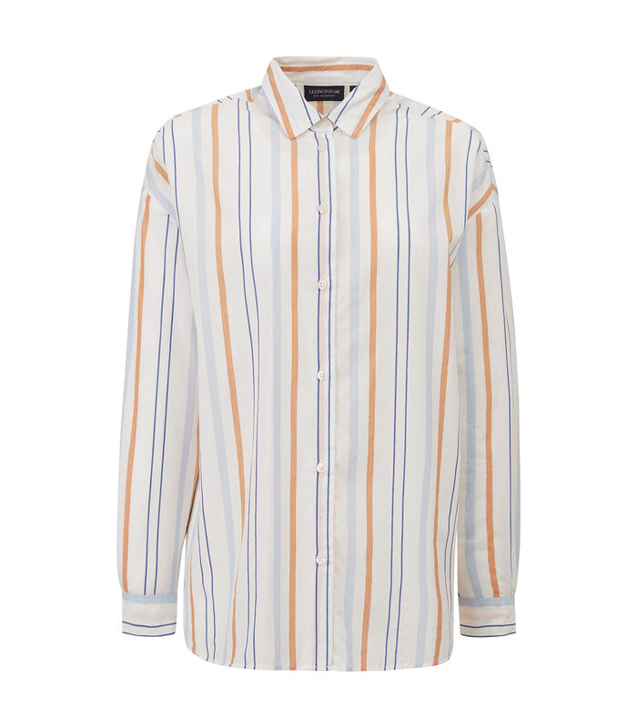 Overhemd Edith gestreept popeline image number 1