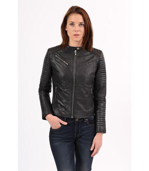 ALESSIA jas in schapenleer biker stijl