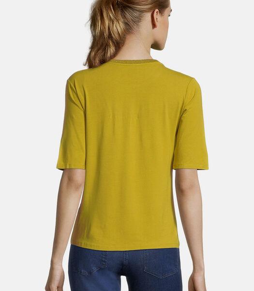 Shirt met ronde hals met print