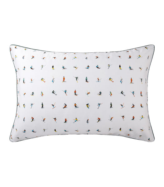Neiges - Taie d'oreiller 100% coton 80 fils/cm²