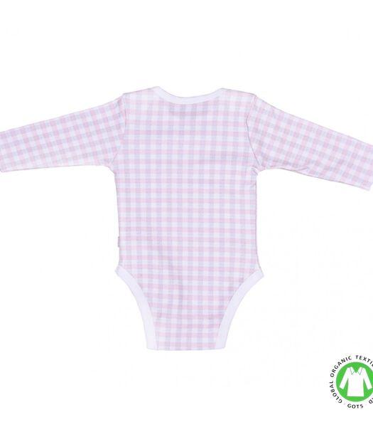 Biologisch katoenen baby rompertje - Gingham