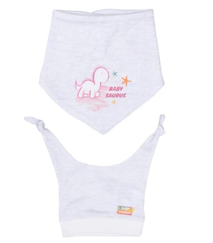 Baby pyjama met bandana en mutsje van biologisch katoen image number 2