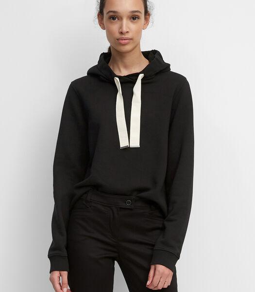 Sweatshirt vervaardigd van sweatstof van organic cotton