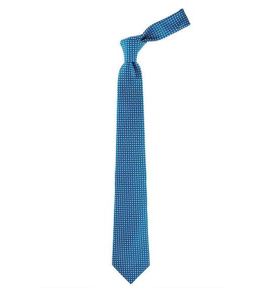 Cravate à micro-motifs carrés en soie