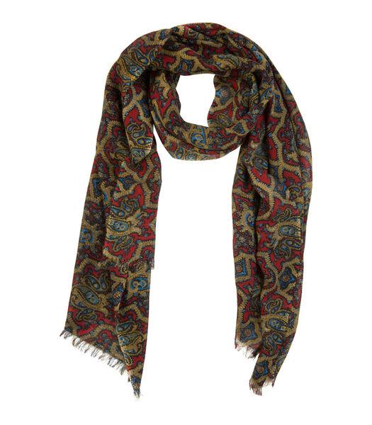 Écharpe en laine motifs paisley