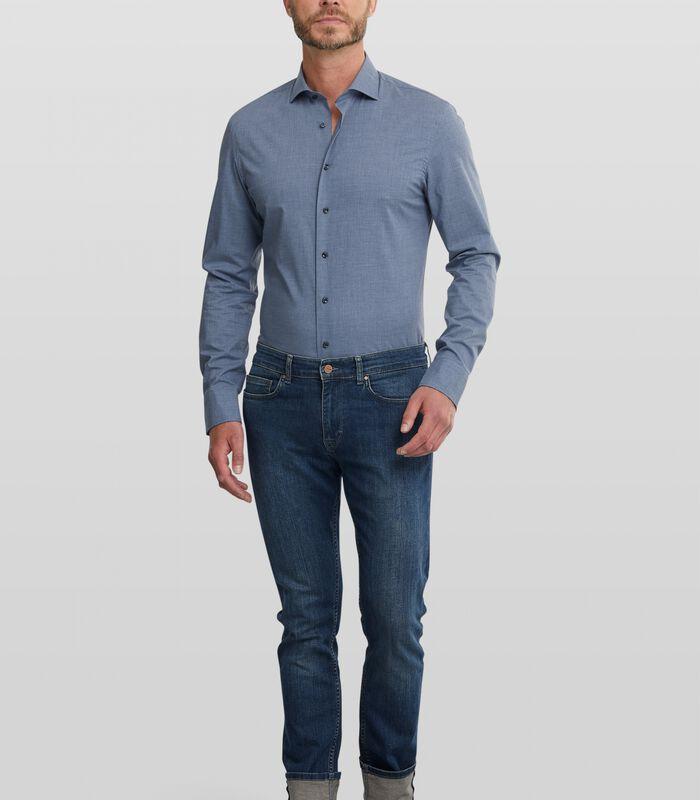 Easy care overhemd met denim look image number 2